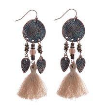 Trendy Alloy&Cotton Strings Tassels Bohemian Boho Drop Dangle Women's Earrings