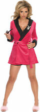 Playboy Pink Sexy Girlfriend Adult Smoking Jacket Robe Hefner Halloween Costume