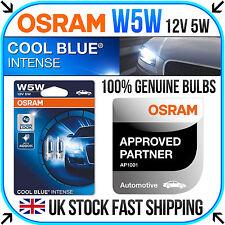 2 x OSRAM W5W, 501, T10 COOL BLUE INTENSE SIDELIGHT PARKING LIGHT BULBS UPGRADE