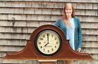 Lrg Antique Post Office Architectural Wood Case Postal Telegraph Electric Clock