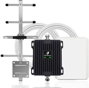 Phonetone Cell Phone Signal Booster for Home and Office   65dB Dual Band 12/1...