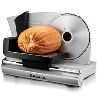 "Electric Meat Slicer 7.5"" Blade 150w Stainless Steel Commercial Deli Food Slicer"