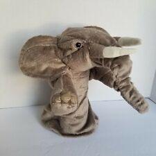 Folkmanis Elephant Stage Plush Brown Grey Puppet Toys Soft Doll Plush 2830