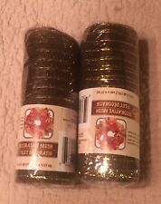 Craft Mesh Fabric Ribbon For Wreaths Handmade Items Brown Gold