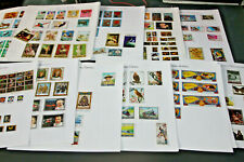 MIDDLE EAST - TRUCIAL STATES COLLECTION ON APX 50 PAGES OF LEAVES 800+ STAMPS