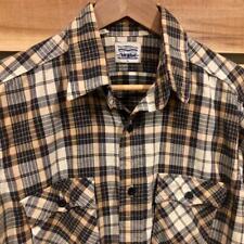 Rare VTG 70s/80s Levis White Tag Flannel Plaid Checks Print L/S Shirt Large