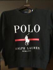 Polo Ralph Lauren big pony black cotton blend fleece sweatshirt NWT $79.99 Sz S