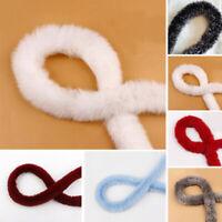 1Meter Rabbit Fur Ribbon DIY Fluffy Trimming Sewing Costume Crafts Multi Color