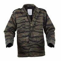 M65 Field Jacket Tiger Stripes Camo with Liner Sizes XS,S,M,L,XL,2XL,3XL