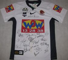 2008 Brisbane Broncos Centenary Jersey Hand Signed x 21 + Photo Proof