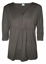 Viscose 3/4 Sleeve Classic Formal Tops & Shirts for Women