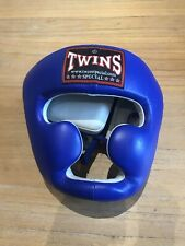 BNWT Twins Special Blue Muay Thai Boxing Headguard Sparring size L
