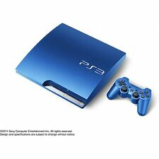 SONY Playstation 3 PS3 Slim 320GB Console Blue *VGC*+Warranty!