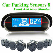 Dual-core Double LCD Display 8 Silver Parking Sensor Car Reverse Radar Alarm Kit