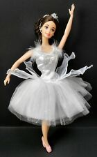 COLLECTOR'S EDITION BARBIE SWAN QUEEN BALLERINA DOLL SWAN LAKE WHT DRESS SHOES