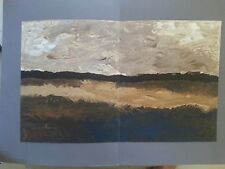 Original lithograph George Braque 1963 maeght 22x15 landscape plate signed