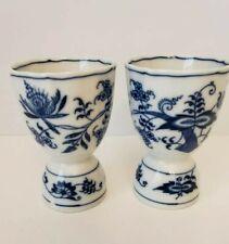 Vintage Blue Danube Blue & White Porcelain Egg Cup