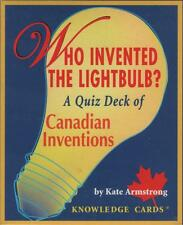 Who Invented the Lightbulb? Canadian Inventions Quiz Cards Stocking Stuffer