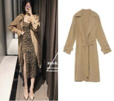 ZARA LOOSE-FITTING BELTED TRENCH COAT SIZE S BRAND NEW