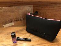 NEW Authentic MAC Neoprene Makeup Bag in Pink Zipper Factory Sealed  + 2 Bonus