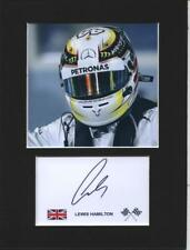 Lewis Hamilton F1 signed printed autograph mounted photo 8x6 display gift