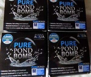 4 X Evolution Aqua Pure Pond Bomb Live Beneficial Bacteria Filter boost