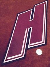 "Medium WHL Lethbridge Hurricanes Stitched ""H"" Hockey Crest Patch 15.5 x 6 inch"