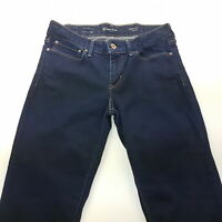 Levi's  Womens Jeans W27 L32 Dark Blue Slim Fit Straight Low Rise