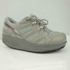 MBT Sport Trainers Shoes Size Uk 3.5 Eur 36.5 Womens Toning Grey Green Leather