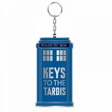 OFFICIAL DOCTOR WHO KEYS TO THE TARDIS METAIL KEYRING KEY RING