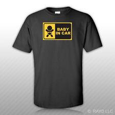Baby In Car T-Shirt Tee Shirt Free Sticker jdm infant