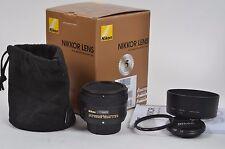 MINT- BOXED NIKON NIKKOR USA AF-S 50mm f1.8G LENS, CAPS, HB-47 HOOD, POUCH, +UV