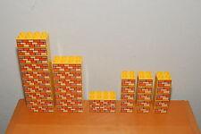 Lot 33 Lego Duplo Printed Bob The Builder Brick Block Pieces Yellow Masonry
