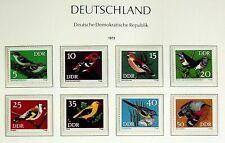 GERMANY DDR 1973 BIRDS SET OF 8v MINT STAMPS