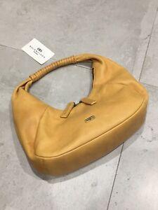 Womans Vintage Yellow Balenciaga BB Monogram Shoulder Bag