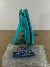 A9 AVON VTG Collection Picnic Backpack Plates,Cups,Insulated Pocket NEW Teal