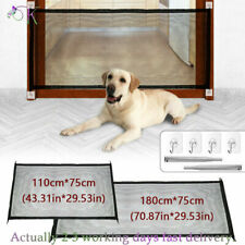 More details for pet dog gate safety guard folding baby toddler stair gate isolation retractable