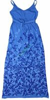 New OLD NAVY Maternity Blue Floral Shelf Bra Maxi Dress Women NWOT Size S M L XL