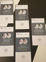 Original VfS Flyer Zertifikate 10 Euro Silber Gedenkmünzen Komplettset 2015 5 St