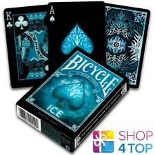 BICYCLE ICE PLAYING CARDS DECK MADE IN USA ORIGINAL POKER BLACK BLUE GLACIAL NEW