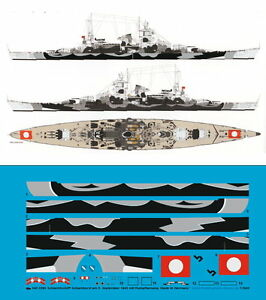Peddinghaus 1/350 ep 3290 Schlachtschiff Scharnhorst 6.9.1943 mit Rumpftarnung