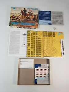 Raid on Richmond Board Game Vintage Strategy RPG Complete New Unpunched 3W