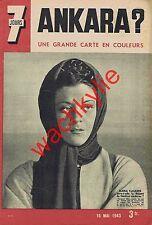 7 jours n°124 du 16/05/1943 Maria Casarès Sicile carte
