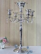 30 inches Silve 5 Arm Metal Candelabra Wedding Centerpiece Floral Stand (Ga,Usa)