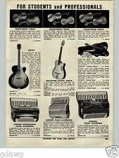1955 PAPER AD Collin Mezin Vuillaume Model Violin Guarnerius Stradivarius Guitar