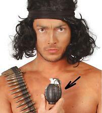 Juguete granada de mano con sonido Ejército Militar Disfraz arma accesorio Prop