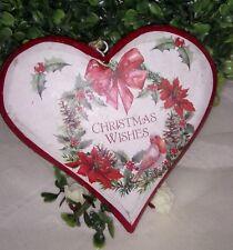 Holz Herz* Christmas*weihnachten*Rot*Weiss*Shabby Landhaus Vintage
