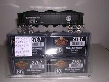 "B.L.I. #2767 B.& O. W2b ARA 70 Ton 4-Bay ""Black"" Hopper Cars  w/4 Diff.#s  H.O."