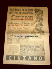 SOCCER WORLD CUP 1958 Match Argentina (2) Vs Paraguay (0) - Original Newspaper