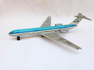 VINTAGE MECHANISM USSR TIN FRICTION TOY IL-62 AIRCRAFT AIRPLANE KLM ROYAL DUTCH